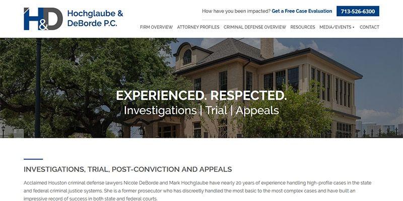Hochglaube and DeBorde P.C. law website.