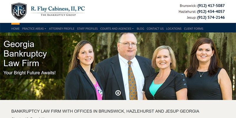 Georgia Bankruptcy Law Firm website.