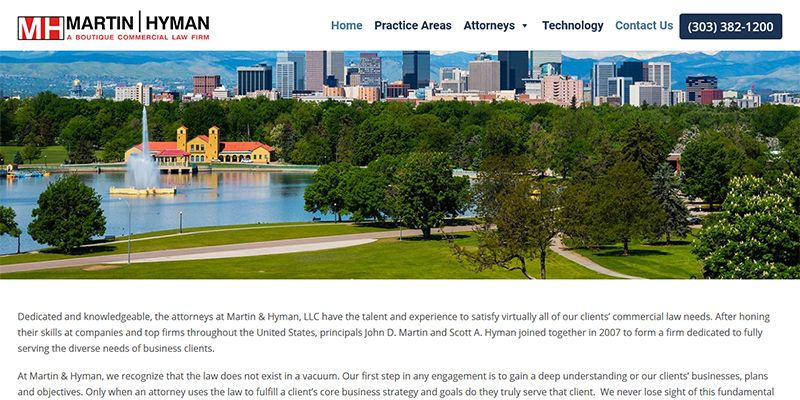 Martin and Hyman a Boutique Commercial Law Firm.
