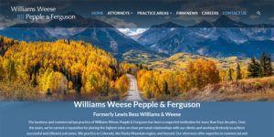 Williams Weese Pepple and Ferguson law website.